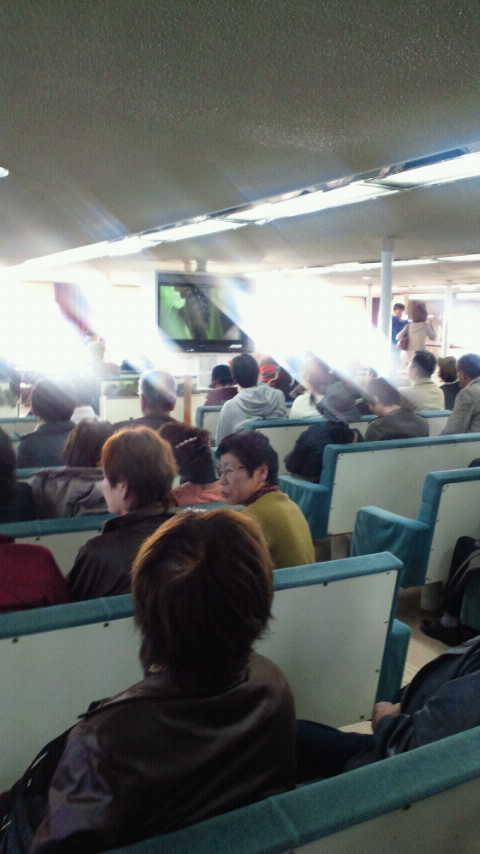 小豆島行きの船
